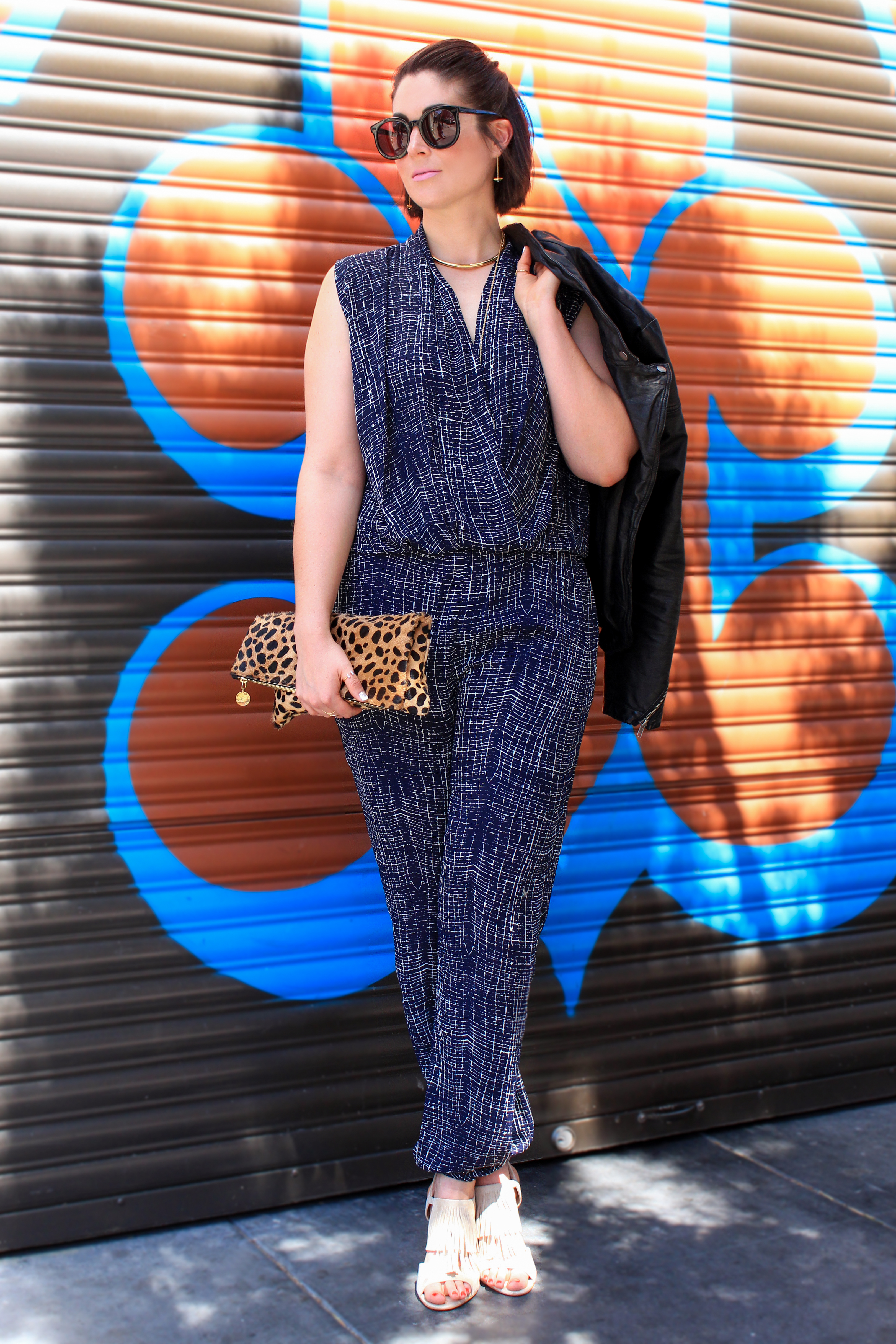 Tamryn of Wannabe Fashion Blogger in our Abstract Plaid Jumpsuit
