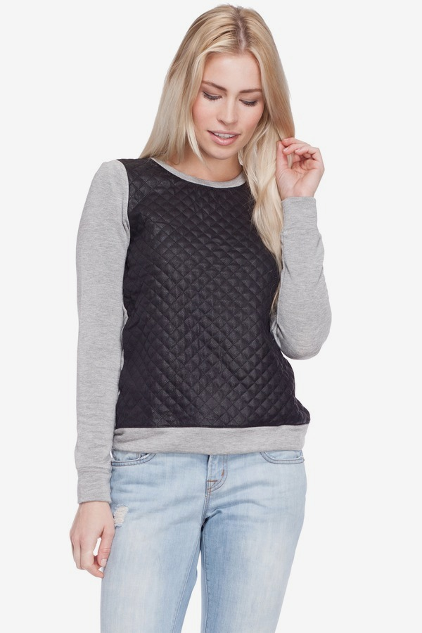 contrast sweater
